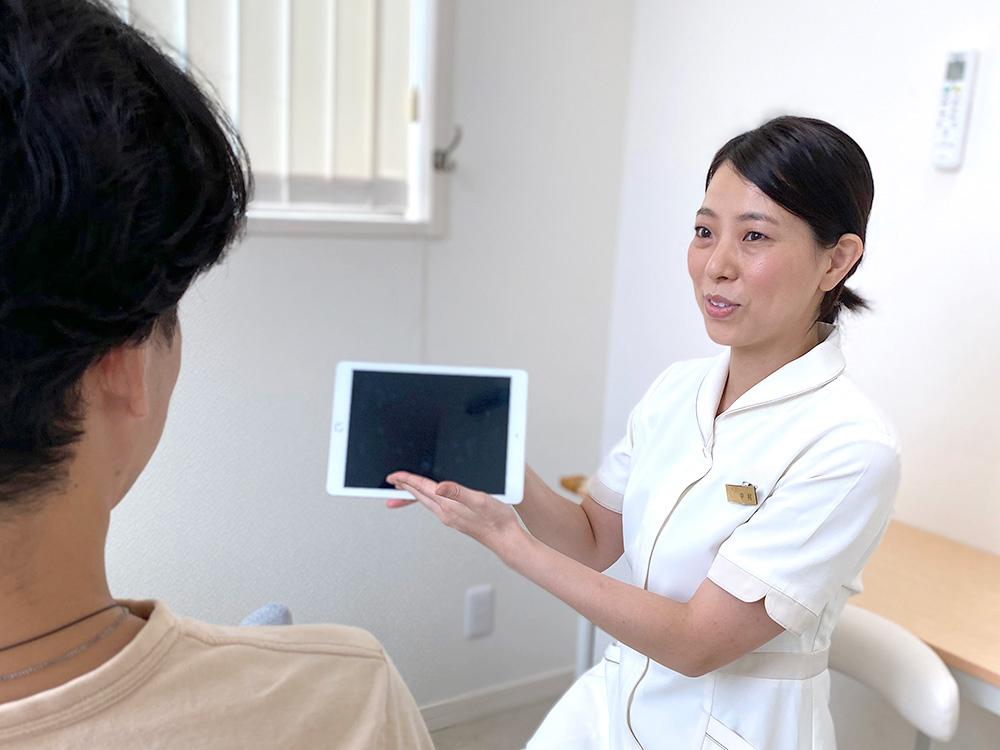 豊富かつ正しい知識を持ったカウンセラーが、患者様のご要望やお悩みを丁寧にお聞きします。